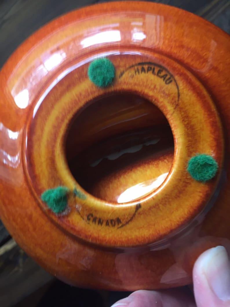 Mid Century Modern Ashtray Vintage Barware Northern Pottery Chapleau Canada