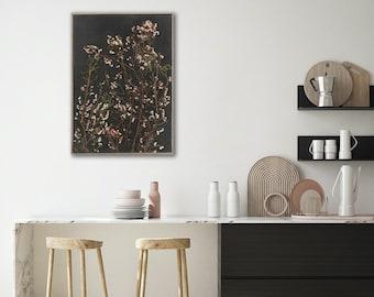 Botanical WALL ART PRINTS | Night Garden 3 | Plant prints Wall Art | Dark Botanical prints | Scandinavian style Prints | Wall Decor