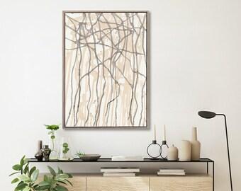 Extra Large Botanical WALL ART PRINTS | Seasonal Trees | Minimal Wall Art | Abstract prints | Scandinavian style Prints | Wall Decor