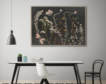 Botanical WALL ART PRINTS | Night Garden 9 | Plant prints Wall Art | Dark Botanical prints | Scandinavian style Prints | Wall Decor