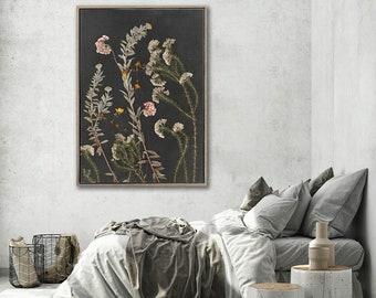 Botanical WALL ART PRINTS | Night Garden 1 | Plant prints Wall Art | Dark Botanical prints | Scandinavian style Prints | Wall Decor