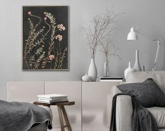 Botanical WALL ART PRINTS | Night Garden 6 | Plant prints Wall Art | Dark Botanical prints | Scandinavian style Prints | Wall Decor