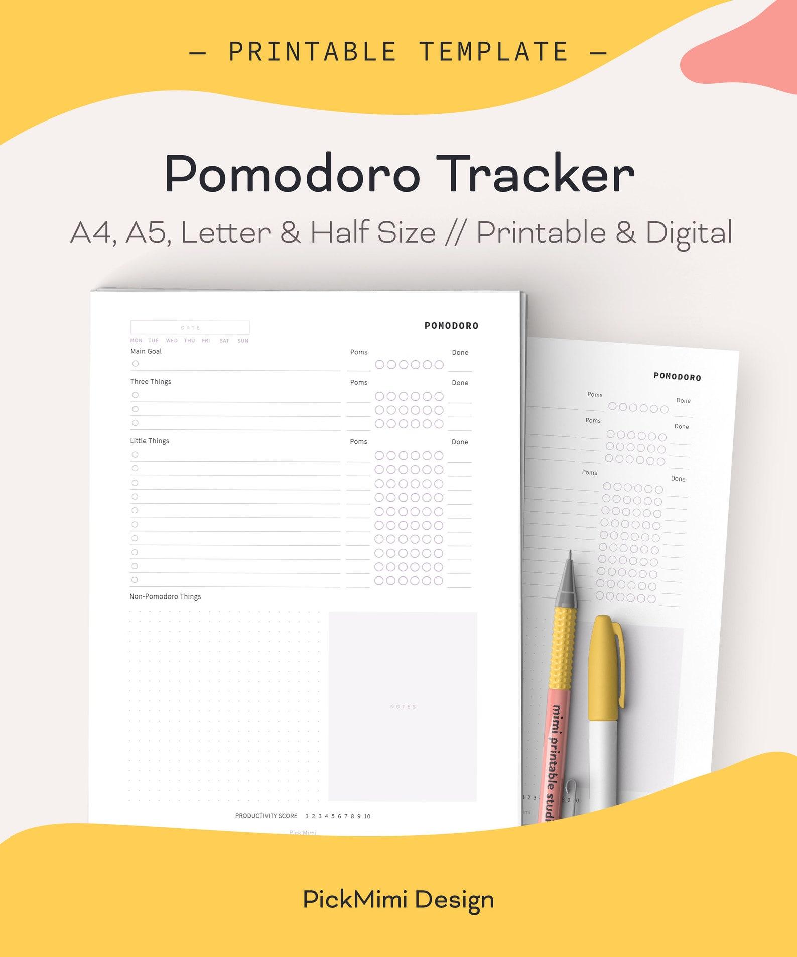 Pomodoro Technique Planner