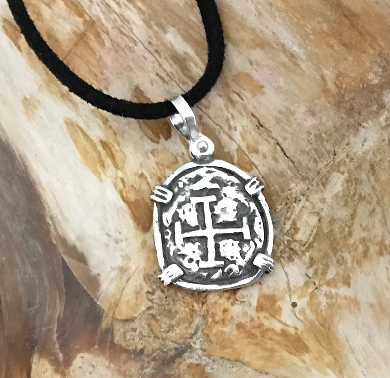 ATOCHA Coin Pendant 925 Sterling Silver Sunken Treasure Shipwreck Coin Jewelry