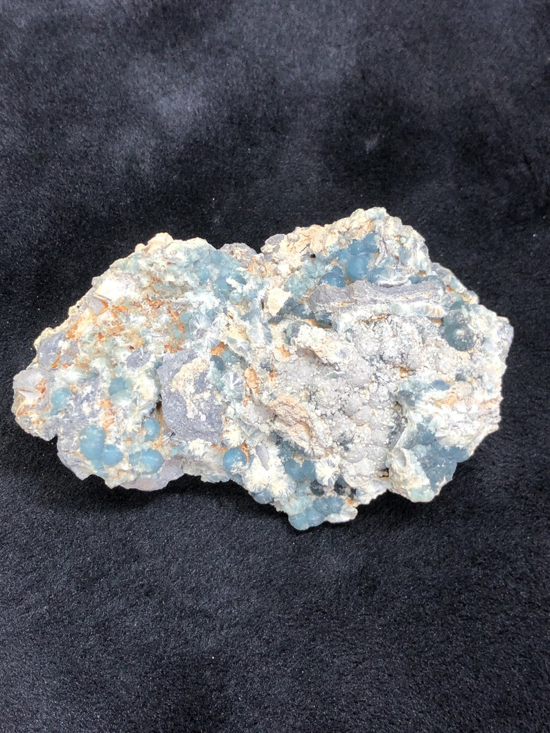 Video/_/_Incredible Luster/_/_/_Large VERY RARE BLUE Wavellite Specimen from Arkansas