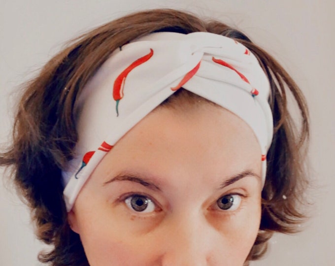 Chilli Knotted Headband, Turban Headband, Fabric Headband, Sports/Yoga headband, Mother's Day Gift, Women's Gift