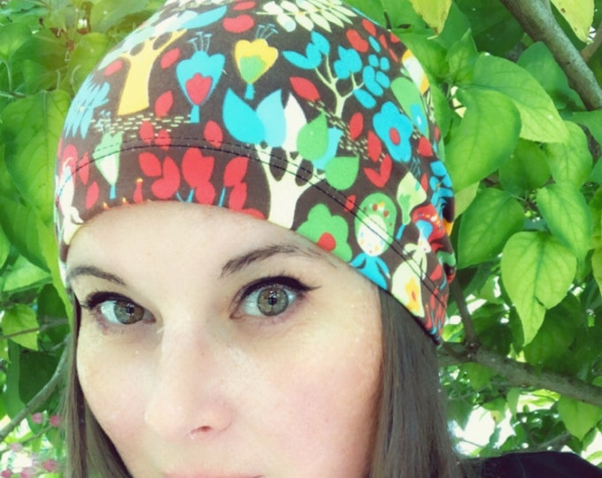 Fantastic forest Slouchy Hat for Hot and Cold Weather, Chemo Sleeping Hat, Kids Hat, Mens Baggy Beanie, Hipster Fashion, Kids Hat