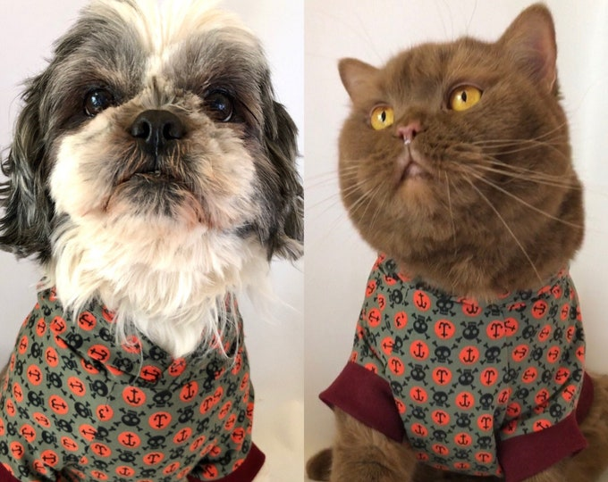Pet top coat hoodie, dog coat, cat coat, dog t-shirt, cat t-shirt, clothes for dogs, cats, dog hoodie, cat hoodie