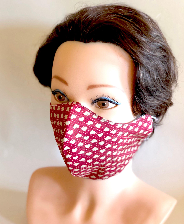 Mask Chemo Cotton Washable Face Reversible Flu
