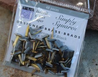 Black Scrapbooking Glitter Round Brads Bulk 25pc