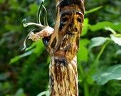 Tree Spirit Hand Carved Spalted Driftwood Folk Art