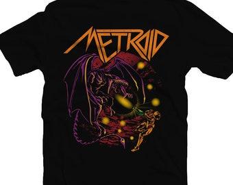 a3214062 Super Metroid Shirt, Samus Aran Tee, Ridley Tshirt, Heavy Metal, Anthrax tee,  Nintendo Shirt, Bounty Hunter, Video Game Shirt, Retro TShirt