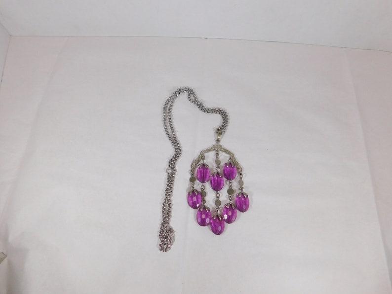 Sarah Coventry/'s Wisteria silver tone necklace