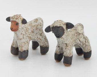 Vintage Pottery Lambs