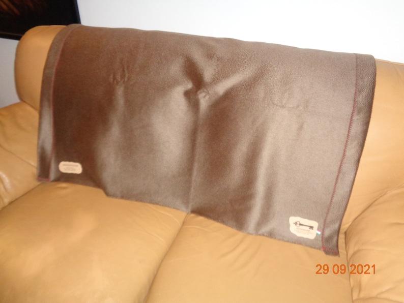 100% premium Cashmere throw / blanket Zibelin effect Made in image 1
