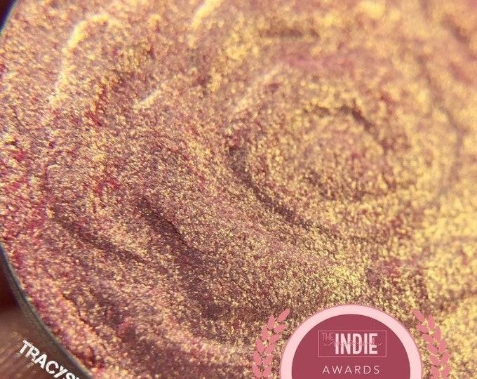 Gilded Rose pressed pigment/Eyeshadow, Pink Eyeshadow, Gold Eyeshadow, Indie Makeup