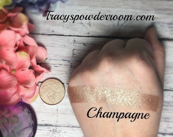 CHAMPAGNE FOILED/METALLIC Pressed Pigment/Eyeshadow, vegan, cruelty free, magnetic