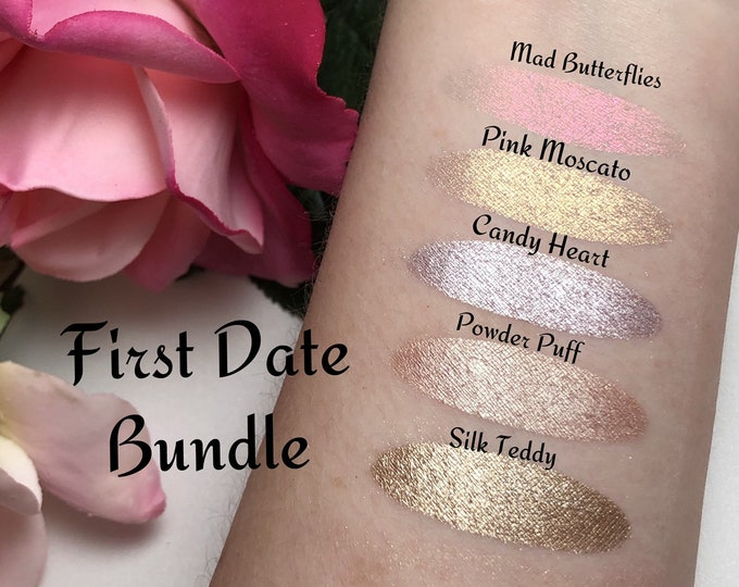 FIRST DATE BUNDLE, Indie Eyeshadow, Magnetic, Color Changing, Color Shift, Mua, Beautician, Gift, Valentines day