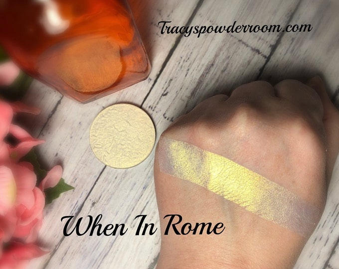 WHEN IN ROME Pressed Pigment/Eyeshadow/Highlighter, cruelty free, vegan, magnetic
