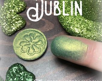DUBLIN Pressed pigment/eyeshadow Green, Mint, Gold, Yellow, Dark Green, vegan, cruelty free, magnetic