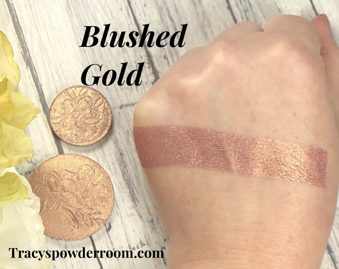 BLUSHED GOLD pressed Pigment/Eyeshadow, vegan, cruelty free, magnetic