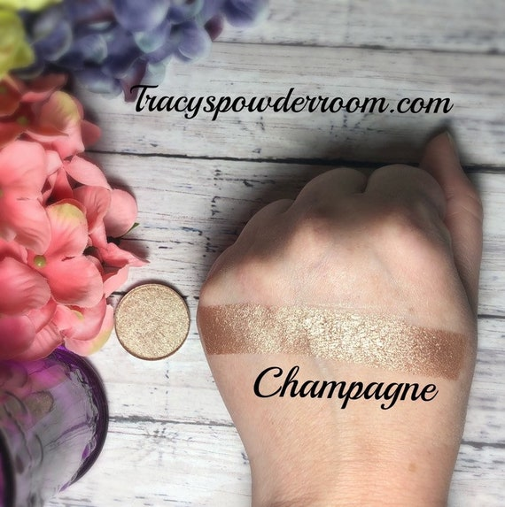 CHAMPAGNE FOILED/METALLIC Pressed Pigment/Eyeshadow, vegan, cruelty free, magnetic