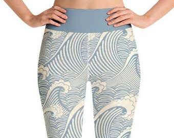 a04295911d485 Wave print gym/yoga Leggings