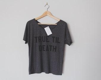 Ladies xMAVENx True Til Death Straight Edge Loose-Fit Tee