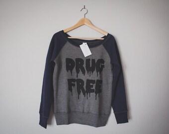Ladies xMAVENx Drug Free Straight Edge Loose-Fit Crewneck Sweatshirt