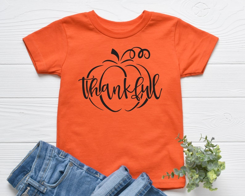 Fall Toddler Shirt Thanksgiving Toddler Shirt Pumpkin Shirt Thankful Pumpkin Toddler Shirt Thanksgiving Youth Shirt