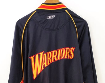 2088641a31d Vintage 90 s NBA Basketball Golden State Warriors Steph Curry Kevin Durant  Throwback Full Zip Warm Up Basketball Jacket Team Embroidered 3XL