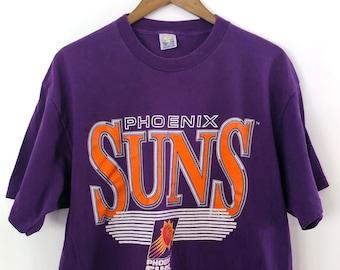 76ab48a4a733 Nice Vintage 90's Phoenix Suns NBA Basketball Purple Oversized Crewneck T- shirt Tee Charles Barkley Steve Nash Cardinals Arizona State LARGE