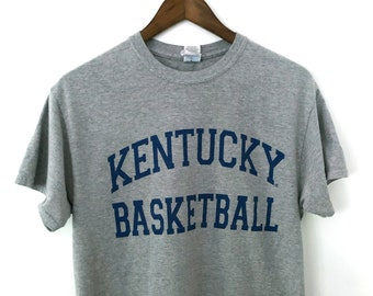 68a63a05 Soft Vintage Heather Gray NCAA University of Kentucky Wildcats Basketball  Crewneck T-shirt Tee College Sweatshirt Champion Sports MEDIUM