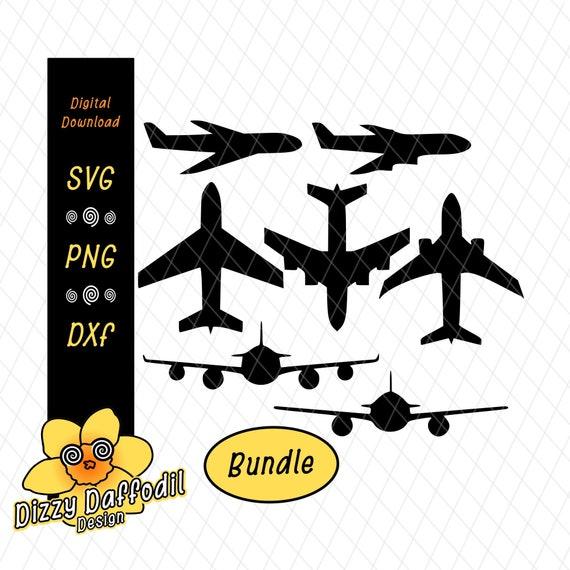 Airplane Svg Dxf Airplanes Jet Jumbo Jet Propeller Plane Etsy