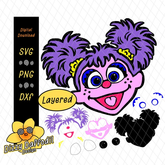 Abby Cadabby Face Head Svg Dxf Sesame Street Digital Download For Birthday Card Or Birthday Invitation Clipart