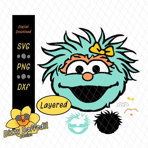 Rosita Face Head Svg Dxf Sesame Street Digital Download For Birthday Card Or Birthday Invitation