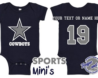 4e24ca4c6ec Dallas | Cowboys | Romper | Football | Infant | Newborn | Baby | Jersey |  Player | Custom | Number | Name | Body Suit | Bodysuit