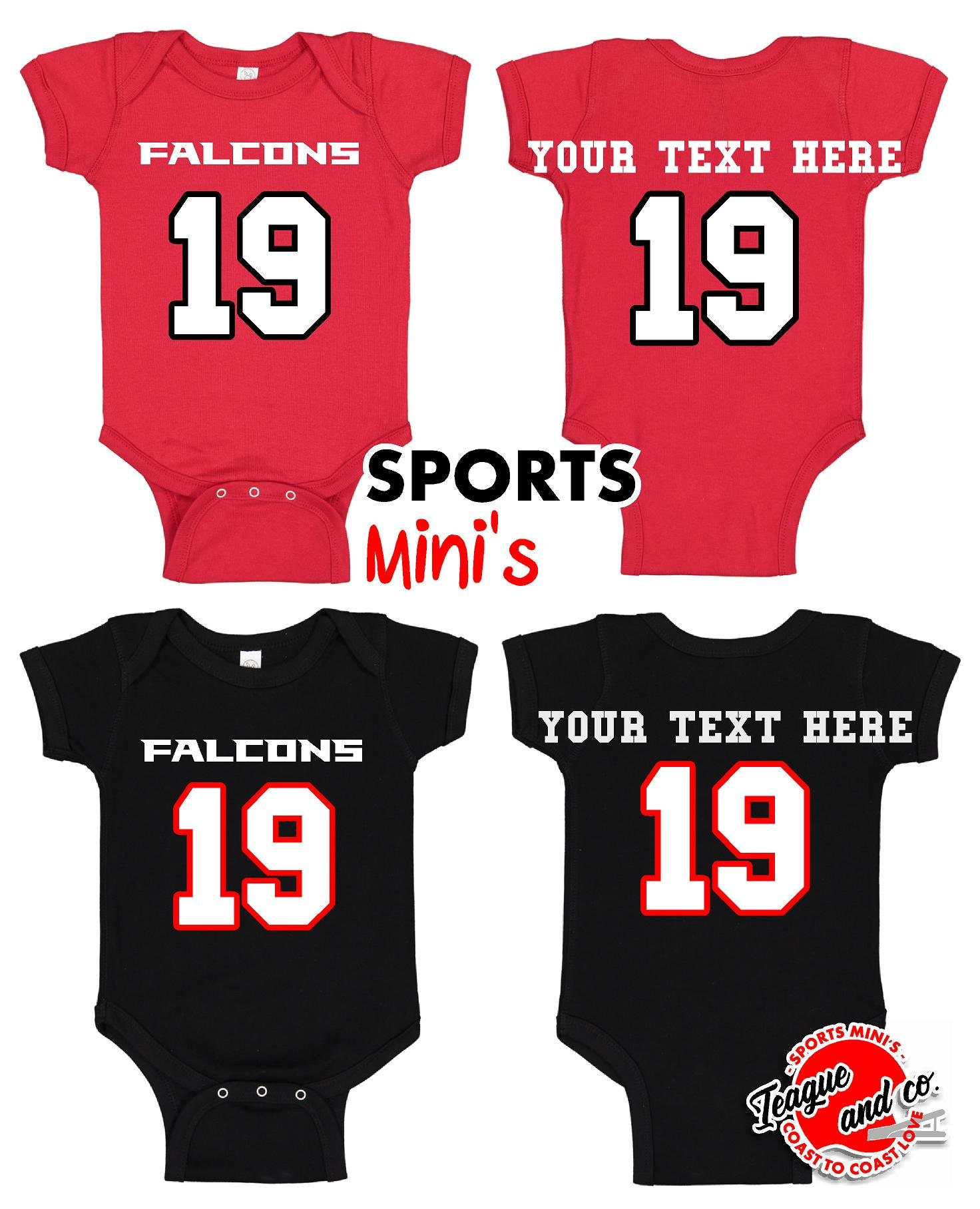 new style 3a7e7 9ceda Atlanta | Falcons | Romper | Football | Infant | Newborn | Baby | Jersey |  Player | Custom | Number | Name | Body Suit | Bodysuit