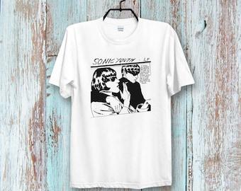915600828e1a SONIC YoutH GOO Retro Super CooL Vintage Unisex & Ladies T-SHIRT B334
