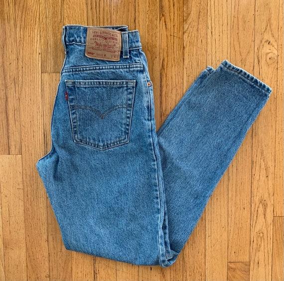 Vintage Levis 550 Medium Wash High-Waisted Mom/Boy