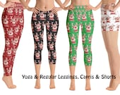 Reindeer Christmas Athletic Yoga Leggings Women Rudolph Cosplay Capris Festive Workout Outfit Old Fashioned Pants Gift Holiday Ho Ho Ho