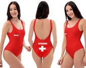 Lifeguard Rescue Red Swimsuit Women Cosplay Swimwear Pamela Baywatch Rescuer Pool Beach Bathing Gift Swim Clothes Fun Spandex Wear Party