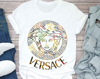 2cbc013b546 Versace Floral Shirt Versace t shirt Gift Gucci Birthday Gucci Inspired Gucci  Shirt Gucci Versace Louis Vuitton Chanel Mom Mama Aunt