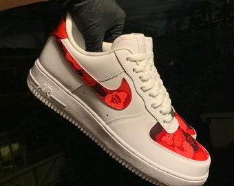 b7ee06074dbb Red Bape Camo Nike Air Force 1