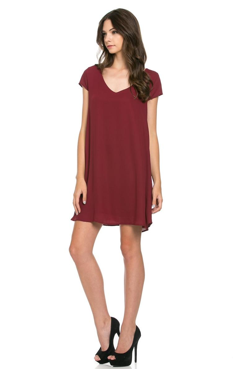 V-Neckline Shift Dress