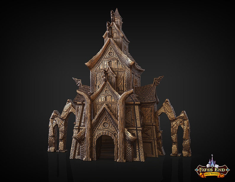 Tabletop Gaming Accessoires RPG Dungeons /& Dragons Valkyrie DICE TOWER DnD Fates End Fantasy