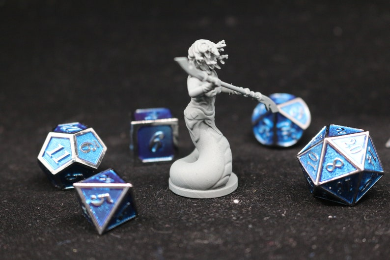 Dungeons and Dragons Tabletop 3D Print Mini Pathfinder Starfinder Medusa Yuan-Ti Naga DnD Resin RPG