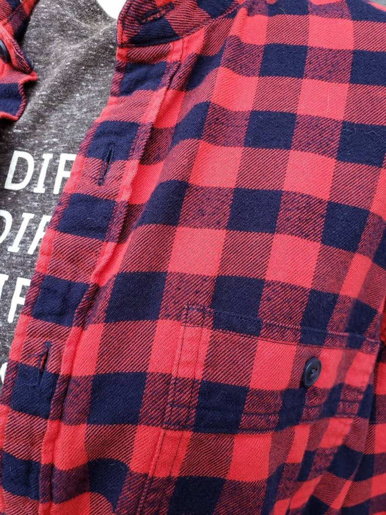 Martin Luther King Thrifted plaid flannel shirt