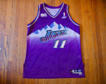 9b874951d9a Vintage Hand Stitched Utah Jazz Jersey + Shorts -  11 - NBAE - Celebrity  Basketball League - NBA Authentics Reebok Team Apparel - Size 48
