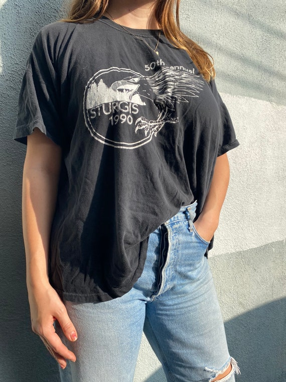 50th Anniversary Sturgis Motorcycle Rally Tee - Bl